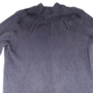Candies Ribbed black sweater with bell sleeves